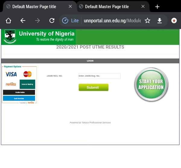 how to check unn post utme result