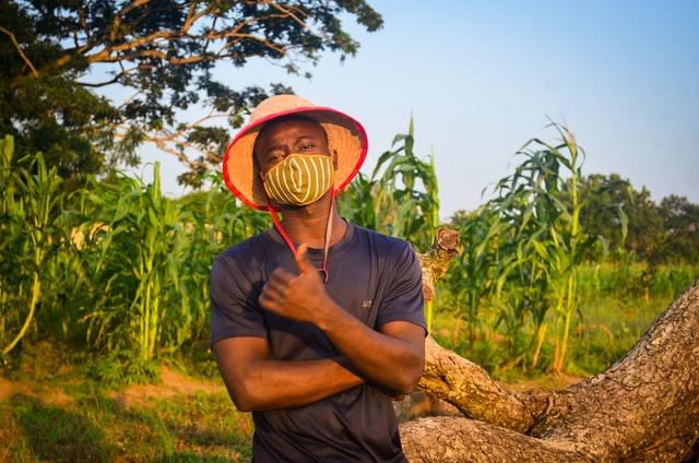Nigerian man in the farm
